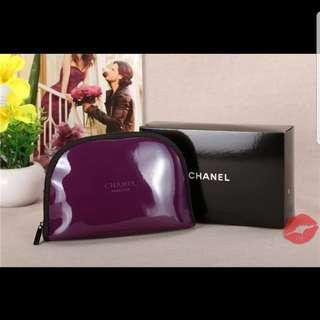Chanel紫色化妝包