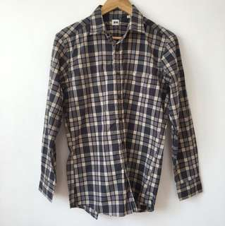 Checkered Long Sleeve Polo