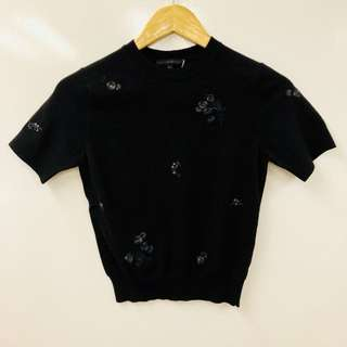 Shiatzy Chen black with embroideries top size F38