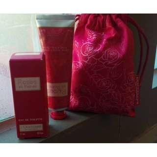 L'OCCITANE  玫瑰皇后 香水與護手霜