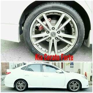 Tyre 225/45 R17 Membat on Kia Cerato Forte 🐕 Super Offer 🙋♂️