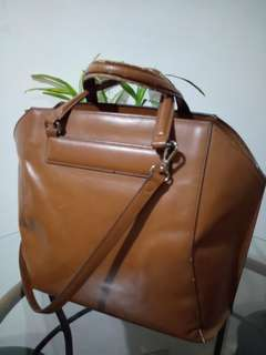 Zara Faux Leather Brown Bag