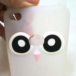 Huawei GR3 2017 Jelly Phone Case, Glittery Owl