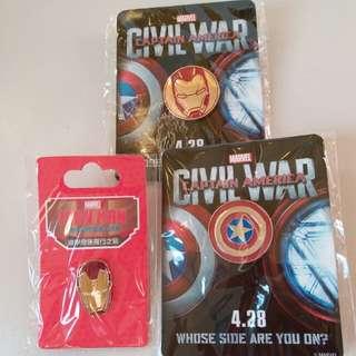 Marvel Iron man襟章
