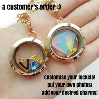 INSTOCK floating charm lockets