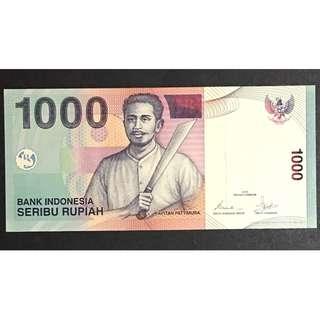 Indonesia 2000 1000 rupiah UNC