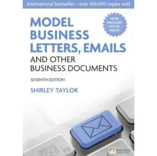 SHIRLEY TAYLOR: Model Business Letters, Emails and Other Business Documents
