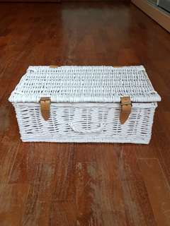 Straw Basket for Hampers or Wedding Deco