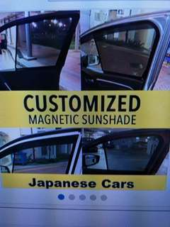 MAZADA 3 (2016) CUSTOMISED MAGNETIC SUNSHADE