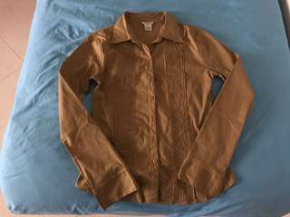 Guess Light Brown Formal Top