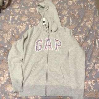 Gap小碎花logo連帽外套