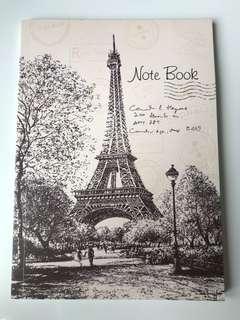 Cute Paris Love Girl Notebook