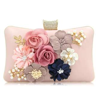Fancy Floral Embroidered Evening Clutch