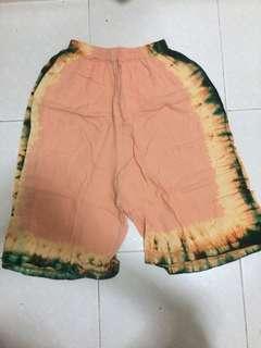 tie dye 3/4 pants