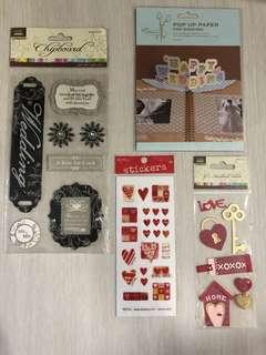 Scrapbook Supplies scrapbook stickers pop up paper - Wedding/Love theme