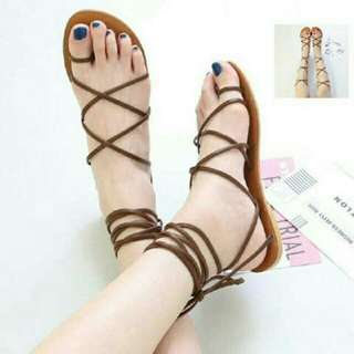 Sandal Tali Gladiator Coklat