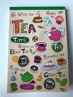 Cute Girls Relaxing Tea Notebook