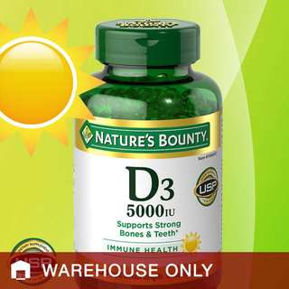 Nature's Bounty Vitamin D3 5000 IU, 400 Softgels (IMPORTED FROM USA), originally $230, now $220!