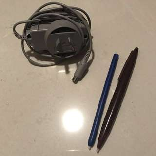 DS Charger And Stylus Pens