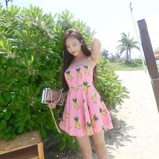 Banana pink dress