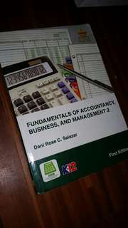 FUNDAMENTALS OF ACCOUNTANCY BUSINESS AND MANAGEMENT 2 K12