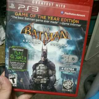 Batman arkham asylum ps3 games