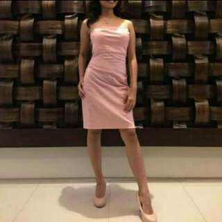 SALE Pastel pink bodycon sexy cocktail dress