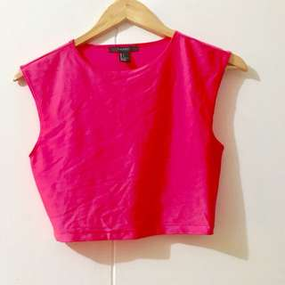 F21 Hot Pink Top
