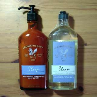 Bath & Body Works Sleep (Lavender Vanilla) Aromatherapy Items