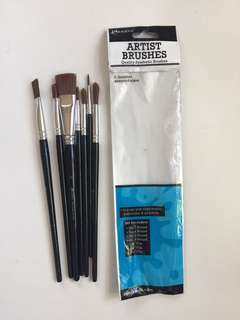 Ranger brushes 7 pcs (watercolor or acrylic)