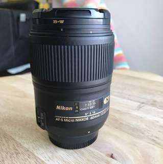 Nikon AF-S Micro 60mm 2.8 ED