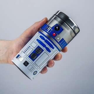 全新罕有Star Wars Last Jedi R2d2 保温壺 水瓶 杯 環保咖啡杯 New Travel Mug 星球大戰