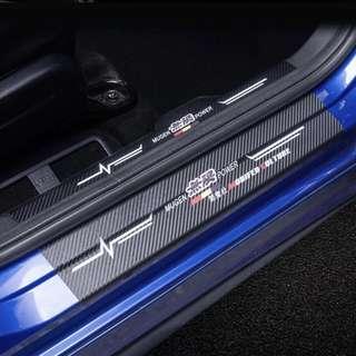 Honda FIT 14 Leather Scuff Plate Mugen