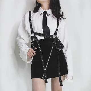 Black Studded Harness Belt Suspender