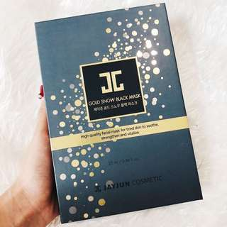 Jayjun Cosmetic Gold Snow Black Mask Box