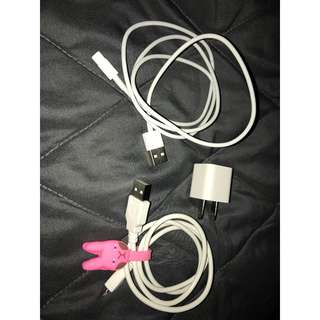 Lightning Cable for iPhone, USB Power Adapter, USB cable for Android phones