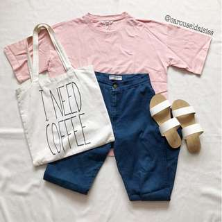 Korean Ulzzang Pink Oversized T Shirt