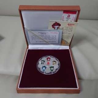 2008北京奧運吉祥物花形紀念章