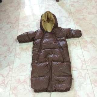 Winter Jacket hoodie jumpsuit/ bodysuit baby gap cun