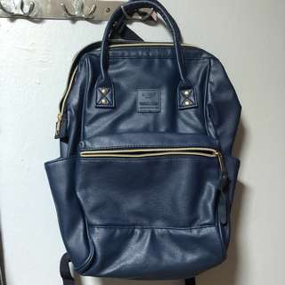 Anello Inspired Leather Bagpack