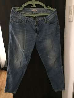 Denim straight cut jeans