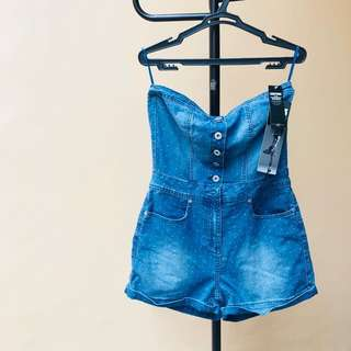 SALE! Only Today 🌟 BN New Look Tube Denim Romper