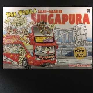 Comic on visiting Singapore in Bahasa Indonesia