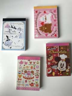 SALE Cute Cartoon Notepad Cindrella Princess Cute Bears Mickey Mouse Minnie Mouse