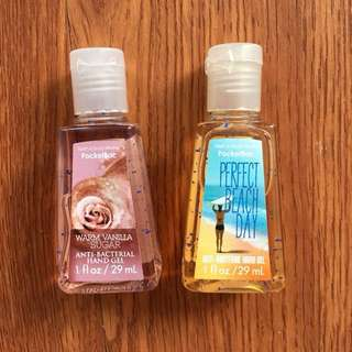 Authentic BBW hand sanitizers