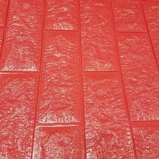 3D wallpaper red