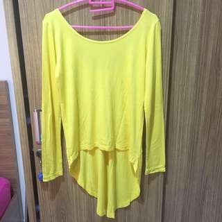 Backless Yellow Blouse