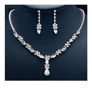Crystal Jewelry Set (Perfect for Bridal and Dinner)