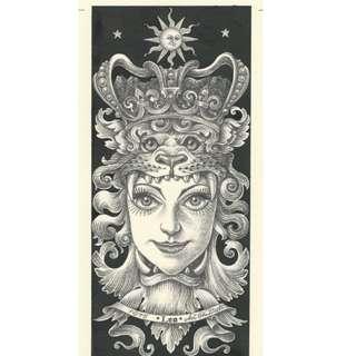 Japanese artwork : Horoscope series Leo