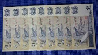 Singapore old birds series  $1 note for sale